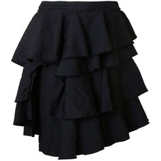Comme des Garcons Skirts (€415) ❤ liked on Polyvore featuring skirts, black, comme des garçons and comme des garcons skirt