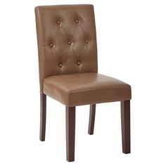 7 Button Dining Chair - Molasses (Bonded Leather) - Osp Designs