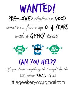 Can you help? | The Little Geekery Co Blog