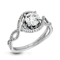 LP2304-D-Simon G. white gold and diamond engagement ring