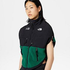 TNF X MM6 Circle Denali-tröja | The North Face Cool Girl, The North Face, Jersey Tops, Jackets, Shopping, Women, Girls, Fashion, Home