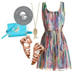 #OOTD #prints #neutralsandals,,WOW,The Necklace,The Purse,Dress and Shoes All Great !!!!!
