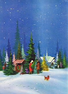 Picking out a Christmas tree - untitled painting by Frans Van Lamsweerde