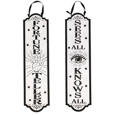 View Fortune Teller Glittery Signs, 23x5.9 Halloween Wishes, Dollar Tree Store, Fortune Teller, Halloween Decorations, Signs, Shop Signs, Sign, Halloween Art