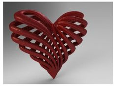 My twisted heart by NovastarDesign on Shapeways. Learn more before you buy, or discover other cool products in Pendants and Necklaces. Chocolate Shapes, All You Need Is Love, 3d Printing, Hearts, Scrapbooking, Pendants, Prints, Red, Design
