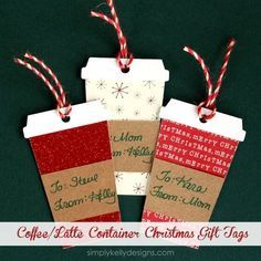 Coffee or Latte Container Christmas Gift Tags   Ideas For Fun and Creative DIY Christmas Gift Tags