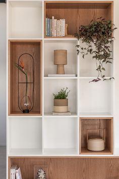 home sala Galeria de Apartamento MRB / - Home Library Design, Home Office Design, Home Interior Design, Diy Bedroom Decor, Living Room Decor, Home Decor, Interior Inspiration, Room Inspiration, Küchen Design