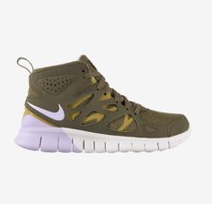 Nike Free 2 Run SneakerBoots in olive green are oh so fashionable