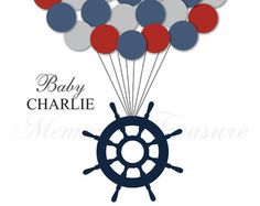 Baby Shower Guest Book Alternative Nautical Baby by MemoryTreasure