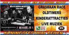 Animerende banner geplaatst op Koopplein Midden-Drenthe voor het Koningsfestival op woensdag 26 en donderdag 27 april in Beilen.  26 april koningsnacht: Mooi Wark en Doe Normaal Joh in het voorprogramma.  27 april Koningsdag: GRATIS ENTREE!  Grasbaanraces, oldtimers, (kinder)activiteiten, draaimolen, luchtkussens etc. Live muziek met Flexlive, nonstop de beste muziek!  http://koopplein.nl/middendrenthe/1366124/koningsfestival-beilen-2017.html