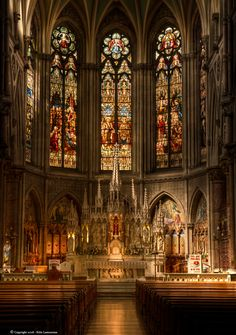 altar in St. Augustine & St. John Church in Dublin. ( French Gothic Revival style)