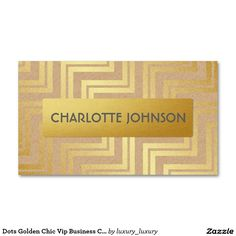 Dots Golden Chic Vip Business Card