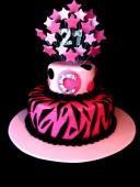 Zebra & Bling Cake, Girls 21st Birthday Cake, or even an 18th birthday cake.