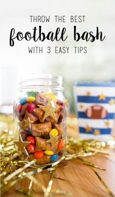 Once you check out this simple and quick ideas on how to throw the best football bash, you'll want to host the tailgate every week. Plus, wouldn't you agree that any touchdown-worthy party menu is better with your favorite M&M'S® Game Day Mix? We sure think so! To make these game day treats for yourself, find everything you need at your local CVS and check out these three easy tips.