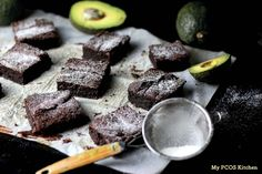 My PCOS Kitchen - Keto Avocado Brownies - These fudgy chocolate brownies are gluten-free, sugar-free and low carb!