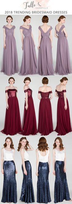 bridesmaid dresses for fall 2018 #bridalparty #bridesmaiddresses #wedding