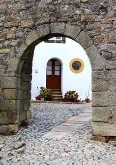 Porta de acesso à vila de Marvão,Portugal