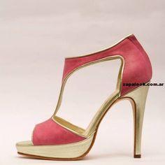Zapato para fiesta fucsia y dorado Rallys 2014 be18eb448818
