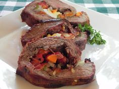 Grilled Stuffed Flank Steak - delish!