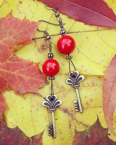 Handmade earrings with jadeite