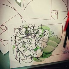 Try design with golden section ratio. #art #art #cherysanthemum #cherysanthemumtattoo#design #drawing #goldensection #japanesetattoo #sketch #tatoo #tattoos #chiangmai #thailand