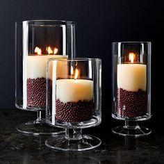 Candle Centerpieces, Christmas Centerpieces, Diy Candles, Tea Light Candles, Vases Decor, Pillar Candles, Tea Lights, Candels, Dollar Tree Centerpieces