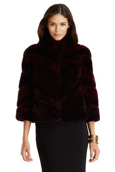 The DVF Eve short ombre fur coat is the most luxurious was to stay warm this winter. #DVFholiday