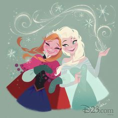 There seems to be a lot of Frozen art with a strong Mary Blair influence. I like it!