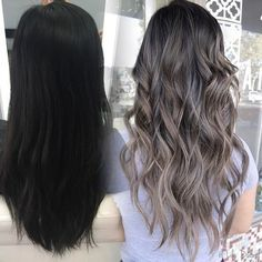 54 Ideas for hair color ideas for brunettes balayage ombre long layered Balayage Ombré, Hair Color Balayage, Hair Highlights, Ombre Hair, Ashy Brown Hair Balayage, Color Highlights, Ash Blonde Hair, Dark Hair, Bb Beauty