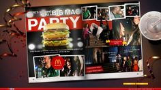 McDonalds Big Mac Party Microsite