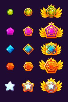 Game Icon Design, Cthulhu, Paint Games, Badge Icon, Vector Game, Star Logo, Game Concept, Game Assets, Cute Chibi