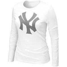 160d963ee Nike New York Yankees Womens Blended Long Sleeve T-Shirt - White