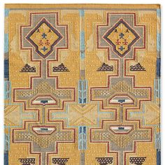 SUN CANYONS DHURRIE RUG--When we discovered an antique rug at a flea market in Texas, its Native American patterns and colors immediately called to mind the deserts, canyons and mountains of Utah. We had our dhurrie rug hand loomed in wool with a cotton warp, exclusively for us, to brighten any space with its sun-washed splendor. Imported. 2-1/2' x 8', 4' x 6', 5' x 8' and 6' x 9'.