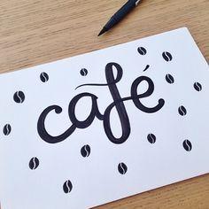 "Me han ""regalado"" la pared de una cafetería entera para decorar ☕️✌️#feliz #sketch #workinprogress #coffee #happyletters #lettering #handlettering #handwritting #handwritten #handdrawn #calligraphy #calligritype #type #typography #goodtype #thedailetype #ink #graphicdesign #design #illustration #art #drawing #draw #typographyinspired #typespire"