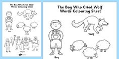Boy Who Cried Wolf Coloring Page
