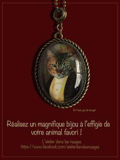 Bijou vintage personnalisé mon chat en costume d'époque : Collier par latelierdanslesnuages