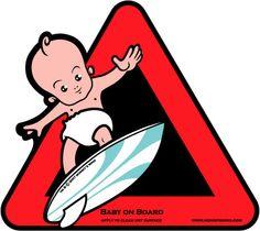 Baby on Board, sticker.