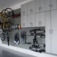 Our Jumbo Cabinets are the perfect solution for getting your gear off of the floor and behind closed doors! Get it in silver today. Garage Shed, Garage Walls, Garage Cabinets, Garage House, Dream Garage, Garage Renovation, Garage Interior, Garage Remodel, Garage Makeover