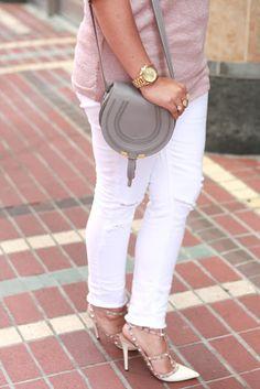 Chloe 'Marcie' small crossbody bag - cashmere gray