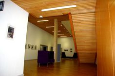 Hunter Douglas Solid Wood Ceilings specified without the usual fire protection treatment to  ensure that the timber could be recycled at the end of its life. This helped to ensure that the building was the first refurbishment of an old building to achieve BREEAM 'Excellent' status. #wood #ceilings #breeam #hunterdouglas #interiors