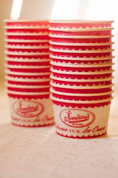 25 Vintage Ice Cream Cups by PostandTwine on Etsy, $6.99