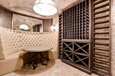 Insidesign Remodel Project eclectic wine cellar