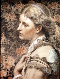 The Athenaeum - Portrait of Mary Sandys (Anthony Frederick Sandys - )
