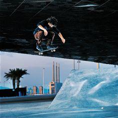 #Skate en la zona del Fórum de #Barcelona durante los X Games 2013 Barcelona.