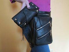 Leather holster bag & wallet Backpack holster Hip holster