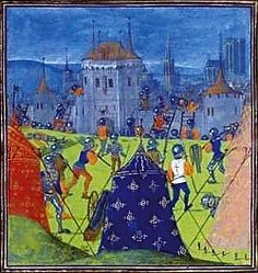 Image Content?. Chronicle of Jean Froissart. Book III. Bibliothèque Nationale de France, BNF FR 2645, Fol. 132