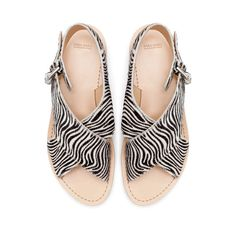 Zara zebra sandals