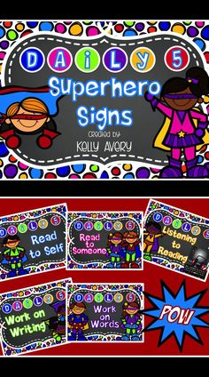 Are you a teacher with a Superhero themed classroom, or do you know of a colleague with this theme? Your students just might think they are in Gotham City after-all with these Daily 5 station signs! (Feel free to tag a colleague! #teachersfollowteachers