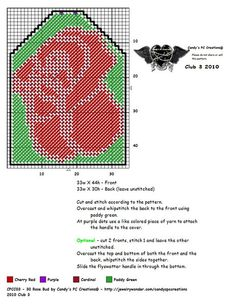 ROSE BUD FLYSWATTER COVER by CANDY'S PC CREATIONS Plastic Canvas Coasters, Plastic Canvas Crafts, Plastic Canvas Patterns, Handmade Shop, Handmade Crafts, Cross Stitching, Cross Stitch Embroidery, Superhero Template, Fly Spray