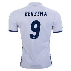 Real Madrid 16/17 KARIM BENZEMA Home Soccer Jersey -   / Check out 2016/17 La Liga Jerseys, apparel and more at WorldSoccerShop.com #LaLiga #Soccer #Jersey #Apparel #Athletes